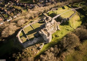 Montgomery Castle Aerial 2 300x210 - Our Work