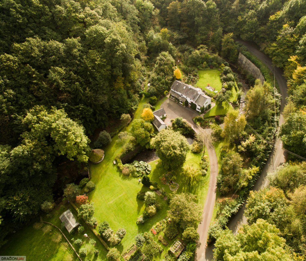 Rufus Rock Mill Abermule 3 - Aerial shots sell property fast !